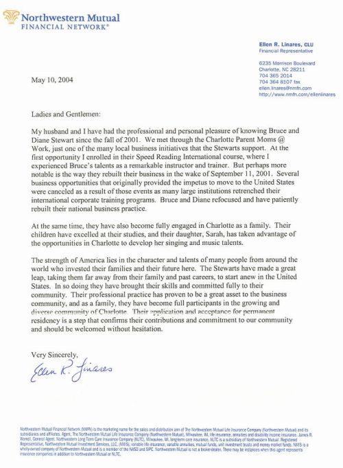sample cover letter for permanent residence application