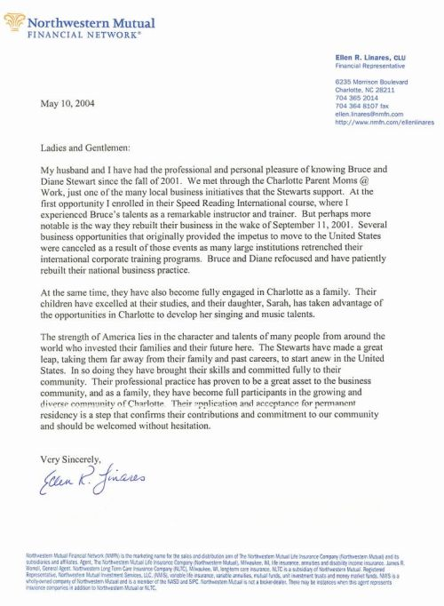 these letters were requested in 2003 may 2004 from business associates in support of our renewal preparations for our l 1 visa renewal applications